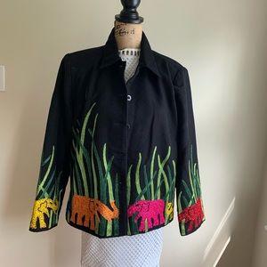 Vintage Anage embroidered jacket blazer